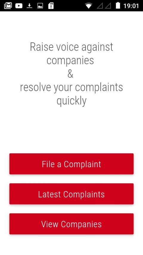File consumer complaints