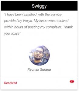 Swiggy Consumer Complaints