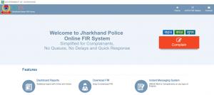 Jharkhand Police Jharkhand Online FIR System