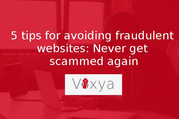 fraudulent websites